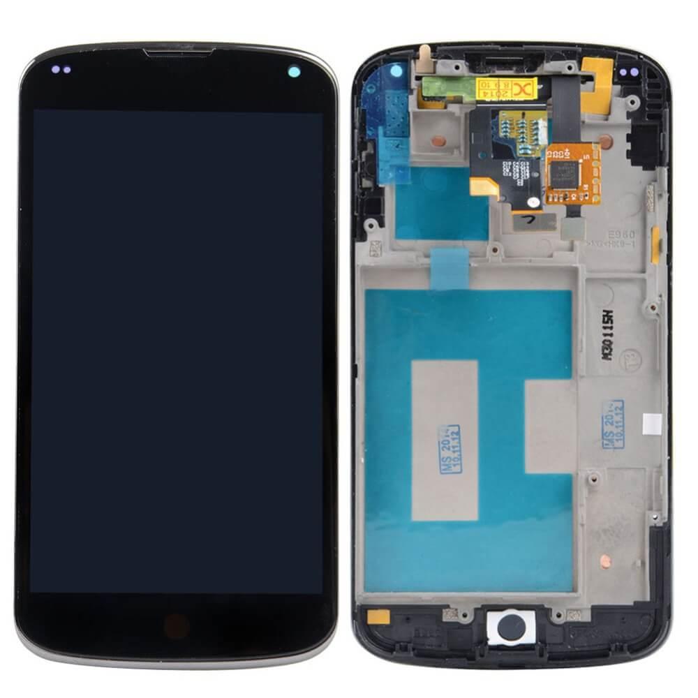 Картинка Дисплей LG E960 в сборе с тачскрином черный от магазина NBS Parts