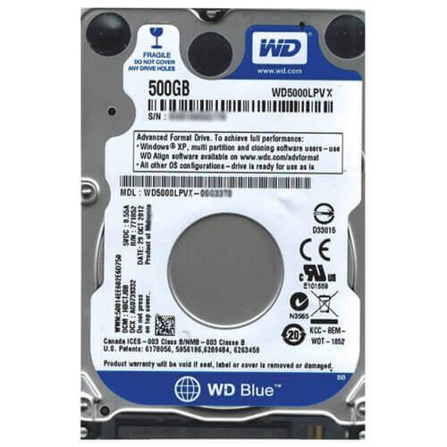 """Картинка Жесткий диск Western Digital 500Gb Blue 2.5"""" 7200rpm 32Mb Sata3 от магазина NBS Parts"""