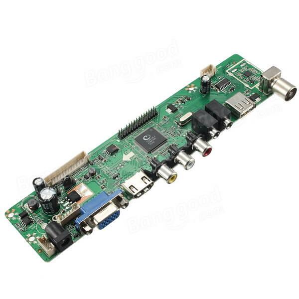 Картинка Универсальный Контроллер LCD 1920*1080 TV Mainboard VGA/HDMI/AV/TV/USB/HDMI от магазина NBS Parts