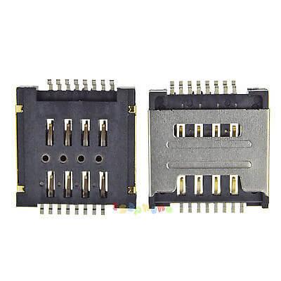 Картинка Коннектор SIM Lenovo S660 A520 A580 S850E A690 двойной от магазина NBS Parts
