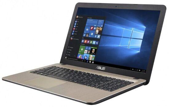 """Картинка 15.6"""" Ноутбук Asus R540YA-XO112T AMD E1, 2 Гб, 500Гб, Radeon R2, Wi-Fi, Win10 Черный/Золотистый от магазина NBS Parts"""