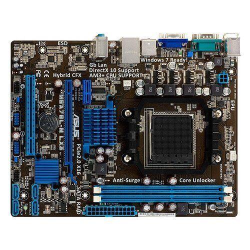 Картинка Материнская плата ASUS M5A78L-M LX3, SocketAM3+, AMD 760G, 2DDR3, PCI-Ex16, 4SATA2, 7.1-ch, VGA от магазина NBS Parts