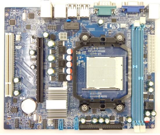 Картинка Материнская плата Foxconn SocketAM2/AM3+, DDR2/DDR3, PCI-Ex16, SATA, 5.1-ch, VGA, mATX от магазина NBS Parts