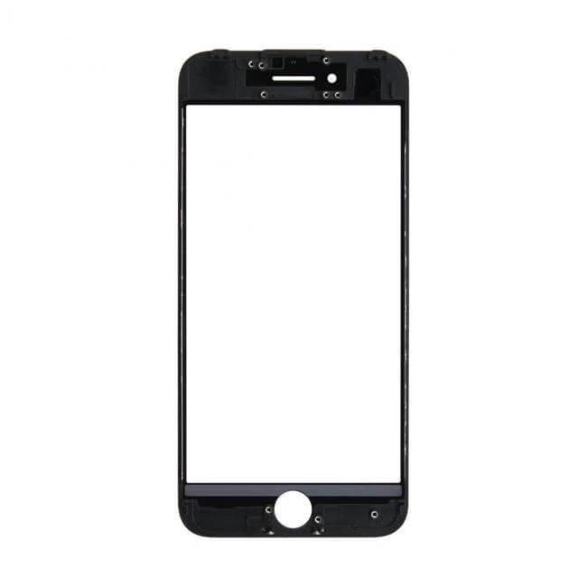 Картинка Стекло iPhone 7 + рамка + ОСА черное от магазина NBS Parts