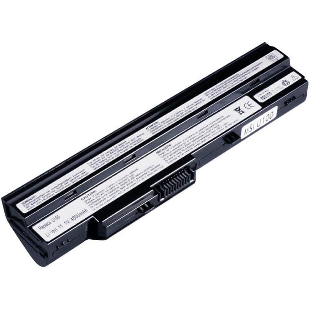 Картинка Аккумулятор для ноутбука DNS MSI U90 U100 (11.1V 4400mAh) P/N:  BTY-S12  BTY-S11 от магазина NBS Parts