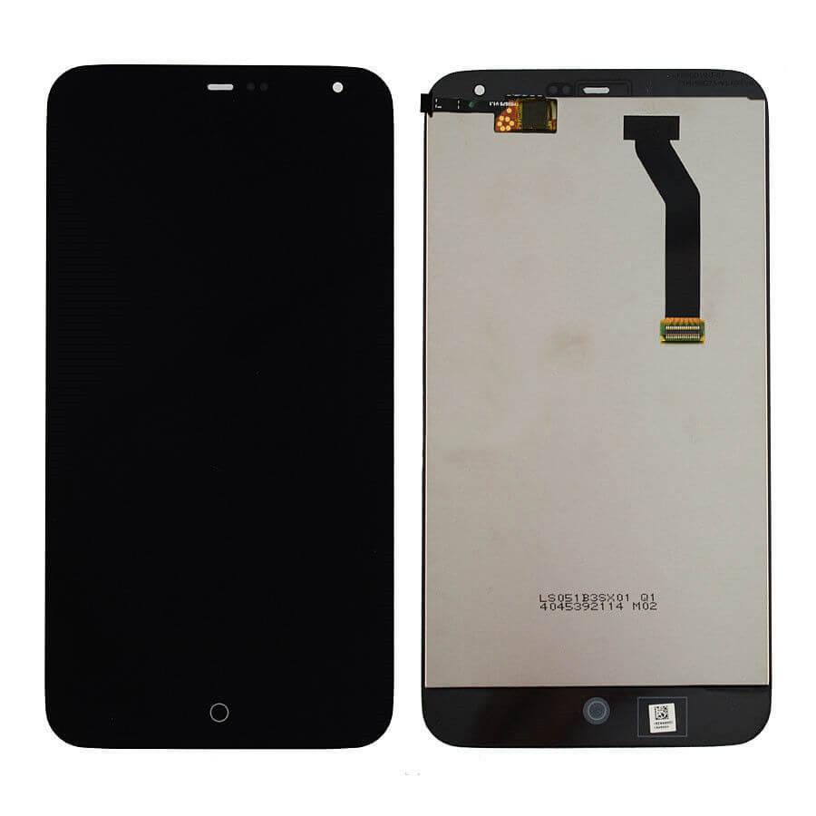 Картинка Дисплей Meizu MX3 в сборе с тачскрином Черный от магазина NBS Parts