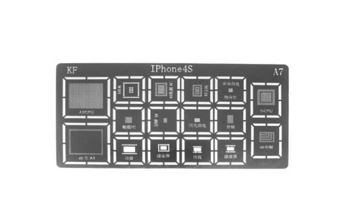 Картинка Трафарет BGA iPhone 4S от магазина NBS Parts
