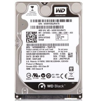 """Картинка Жесткий диск Western Digital 500Gb Black 2.5"""" 7200rpm 32Mb Sata3 от магазина NBS Parts"""