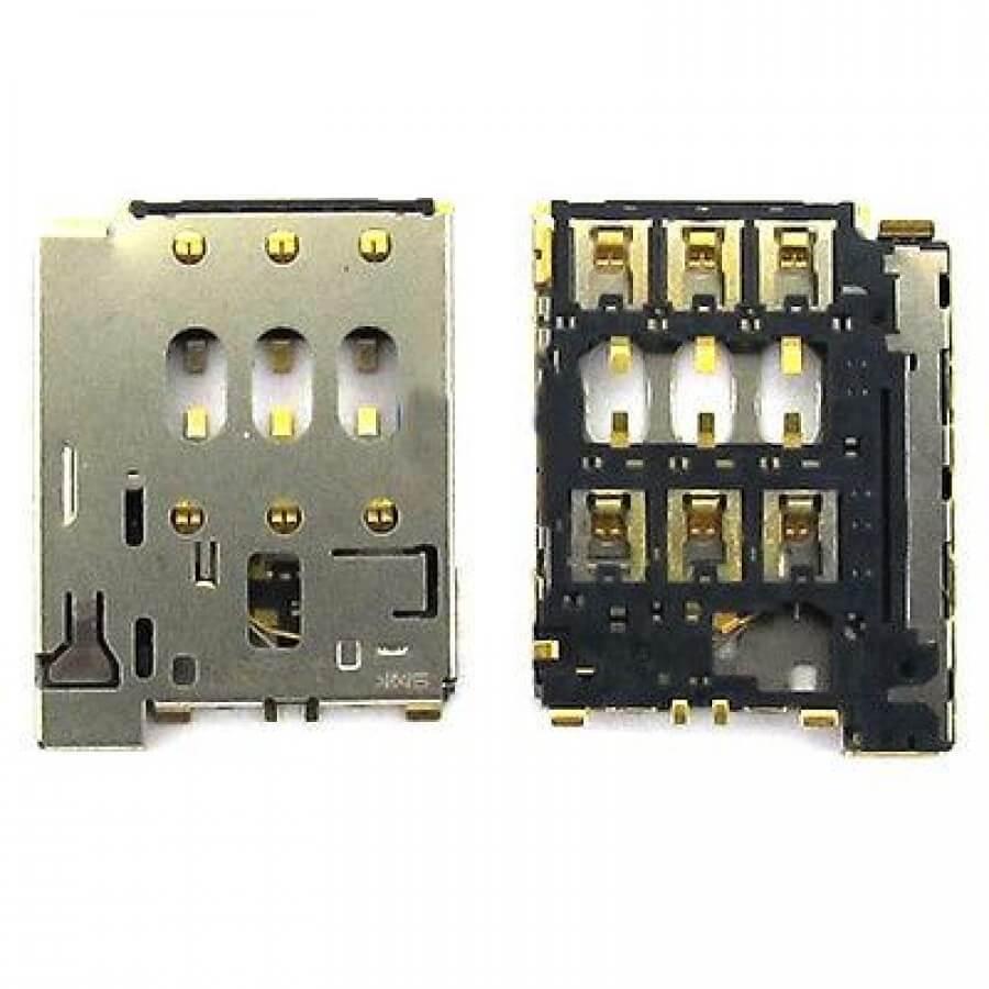 Картинка Коннектор SIM HTC Desire 616 Dual/Lenovo A6010/Tele2 Midi LTE/Tele2 Midi 1.1/Tele2 Maxi Plus от магазина NBS Parts