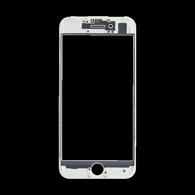 Картинка Стекло iPhone 7 + рамка + ОСА белое от магазина NBS Parts