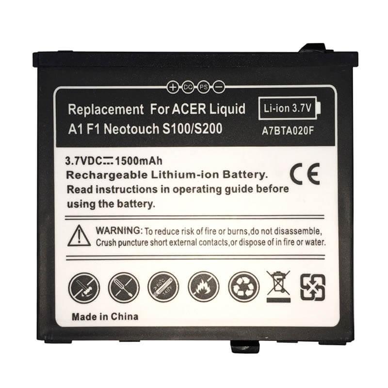 Картинка АКБ Acer s100, E, E Plus, E400, S100 Liquid A1 от магазина NBS Parts