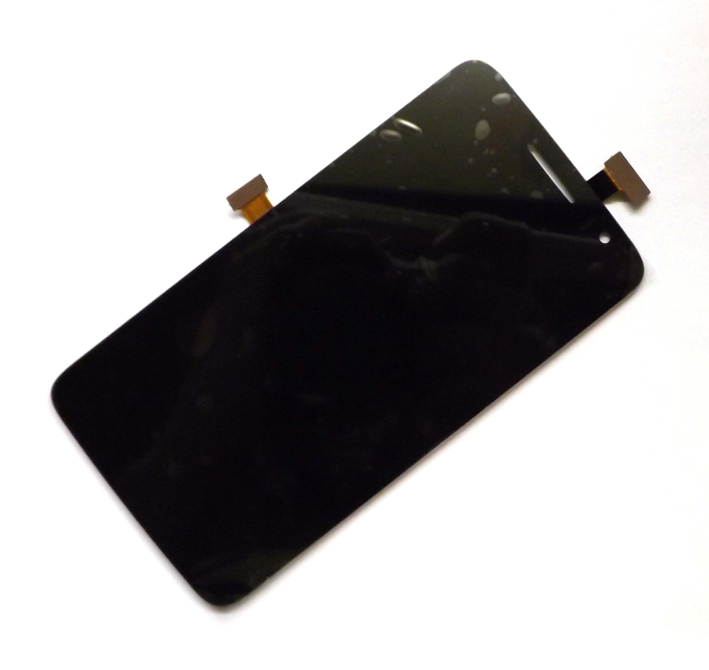 Картинка Дисплей Alcatel OT-8008 в сборе с тачскрином черный от магазина NBS Parts