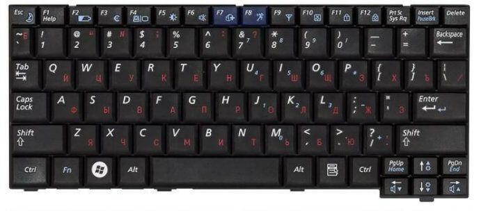 Картинка Клавиатура для Samsung Samsung NP-X22 X22  BA59-02121C черная от магазина NBS Parts