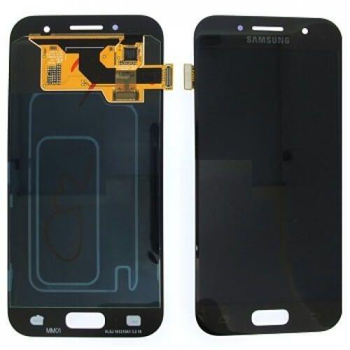 Картинка Дисплей Samsung A320F в сборе с тачскрином черный Orig от магазина NBS Parts