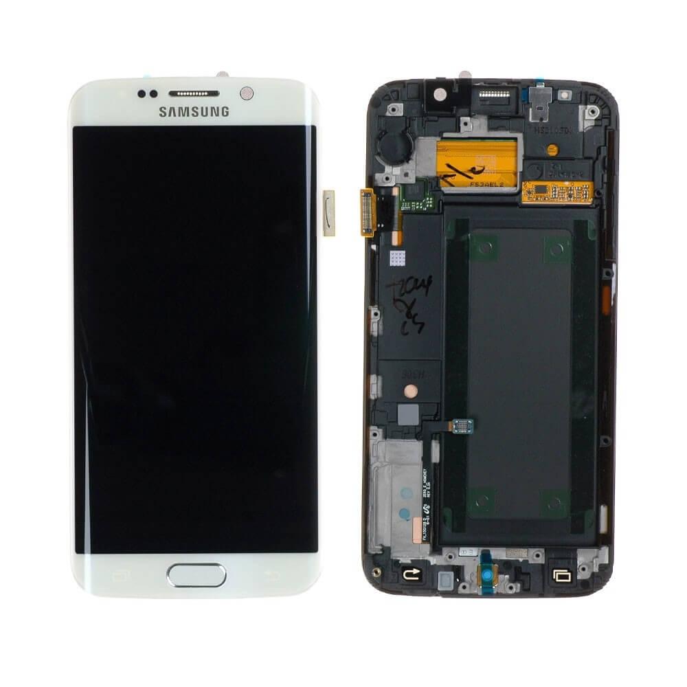 Картинка Дисплей Samsung G925F Galaxy S6edge в сборе с тачскрином белый ORIG  от магазина NBS Parts