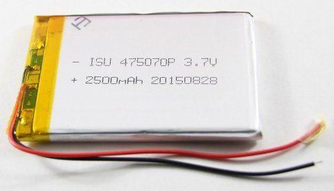 Картинка АКБ универсальная 475070p 2500mAh от магазина NBS Parts