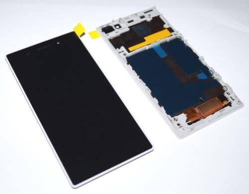 Картинка Дисплей Sony C6903 (Xperia Z1) в сборе с тачскрином+рамка Белый от магазина NBS Parts