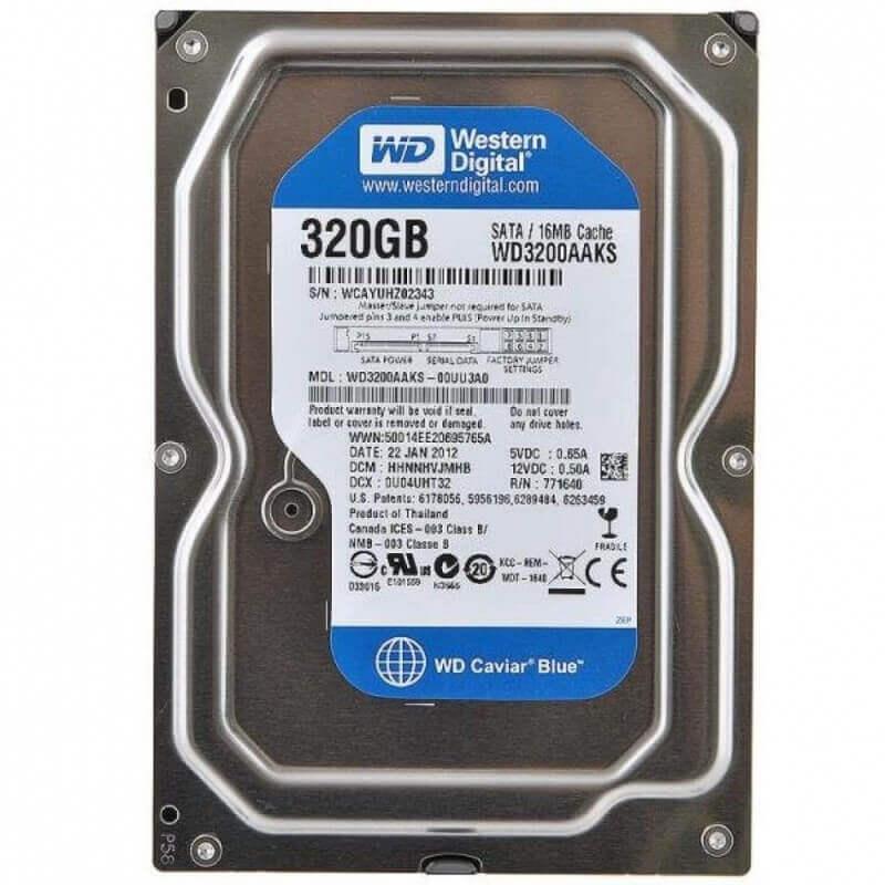 """Картинка Жесткий диск WD 3.5"""" 320 Гб, SATA II, 7200 rpm, WD3200AAJS  от магазина NBS Parts"""