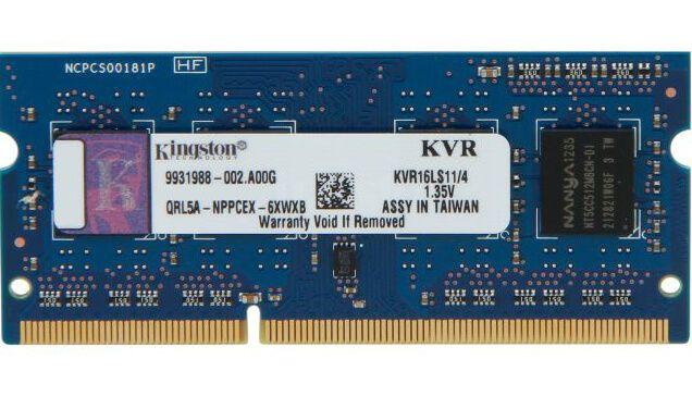 Картинка Оперативная память SODIMM Кingston [KVR16LS11/4] 4 ГБ от магазина NBS Parts
