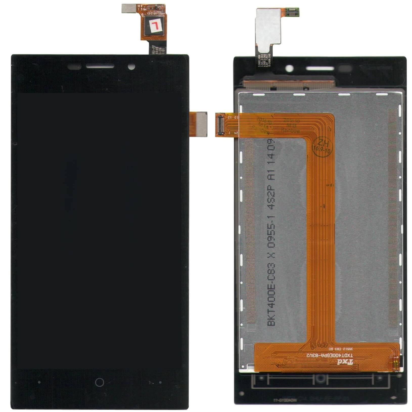 Картинка Дисплей Highscreen Zera F (rev.S) в сборе с тачскрином черный от магазина NBS Parts