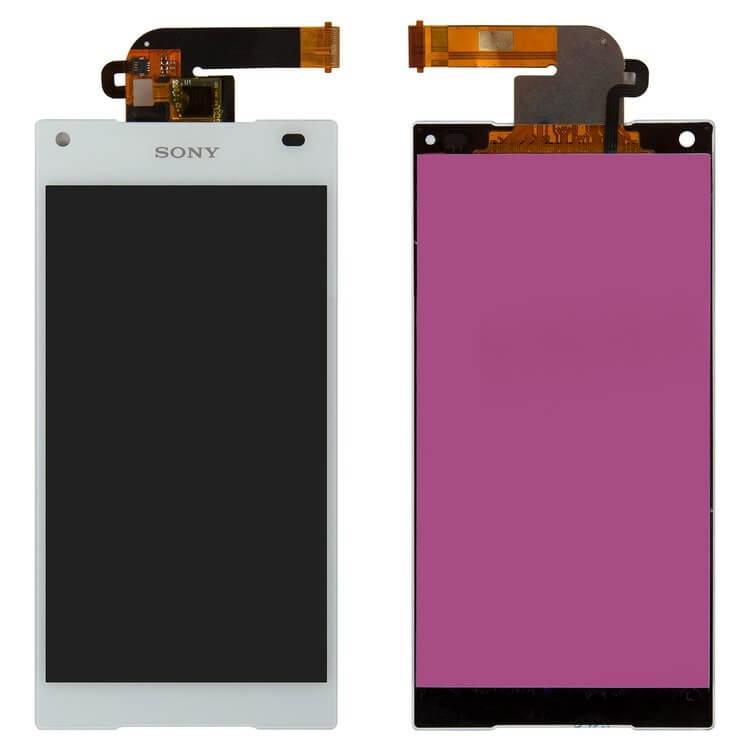 Картинка Дисплей Sony E5823 (Xperia Z5 compact) в сборе с тачем (Белый) от магазина NBS Parts