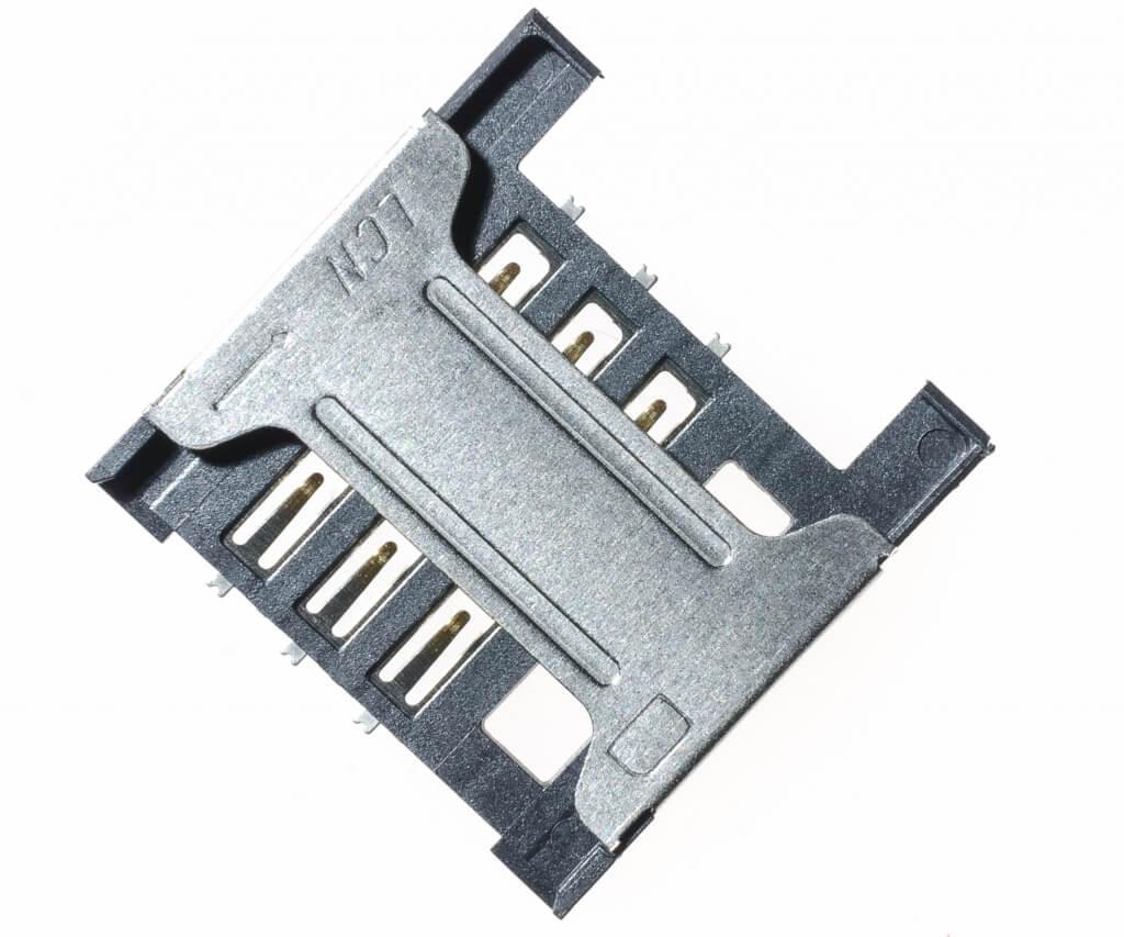 Картинка Коннектор SIM Alcatel OT-4033D/OT-4030D/OT-5020D/OT-4010D/OT-4015D/OT-4018D от магазина NBS Parts