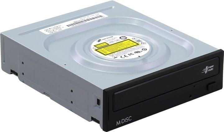 Картинка Привод DVD-RW LG GH24NSD0 SATA черный Bulk от магазина NBS Parts