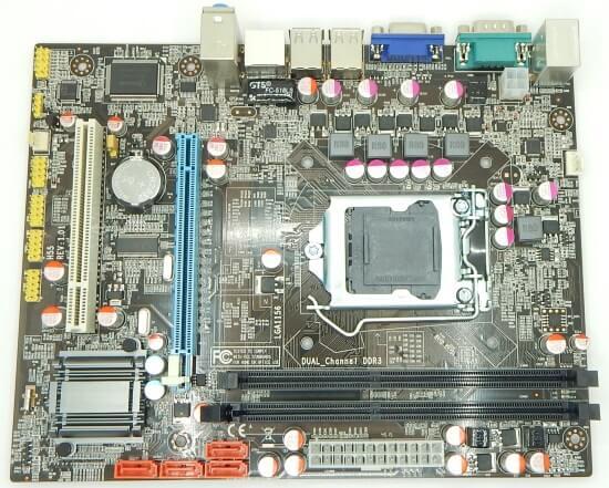 Картинка Материнская плата Foxconn, Socket1156 P55, 2DDR3, PCI-Ex16, SATA, VGA, mATX от магазина NBS Parts