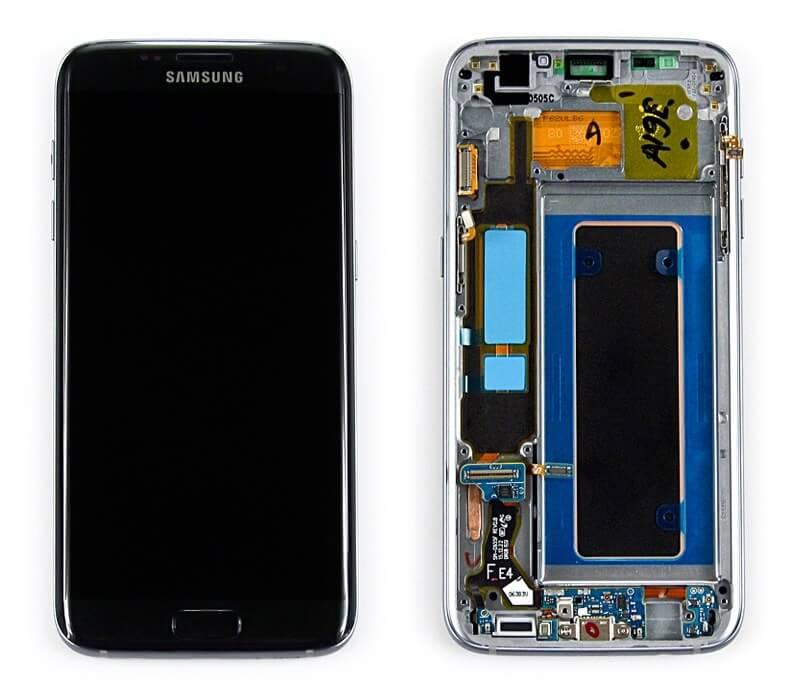 Картинка Дисплей Samsung G935F Galaxy S7 EDGE в сборе с тачскрином черный ORIG  от магазина NBS Parts