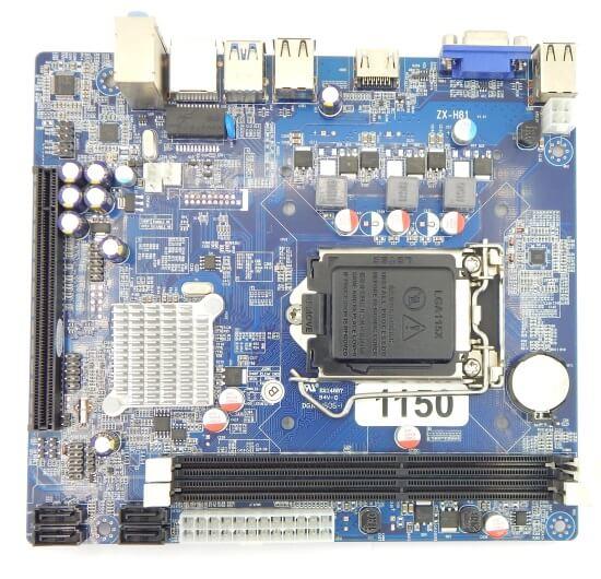 Картинка Материнская плата Foxconn, Socket1150, H81, 2DDR3, PCI-Ex16, SATA, 5.1-ch, VGA, mATX от магазина NBS Parts