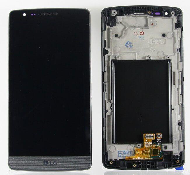Картинка Дисплей LG D724 G3s в сборе с тачскрином Черный от магазина NBS Parts