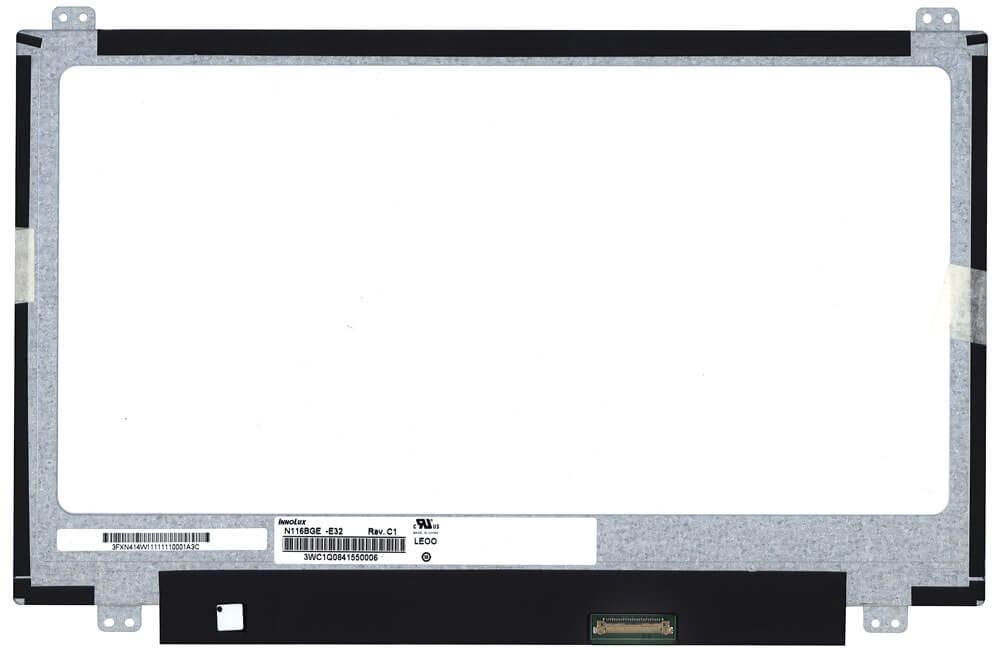 """Картинка Матрица для ноутбука 11.6"""" 1366x768 30 pin SLIM уши сверху снизу P/N: N116BGE-E32, B116XTN01.0, N116 от магазина NBS Parts"""