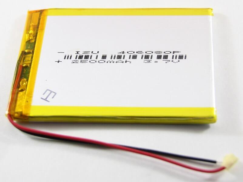 Картинка АКБ универсальная 406080p 2500 mAh от магазина NBS Parts