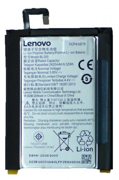 Картинка АКБ Lenovo BL250 (Vibe S1) тех. упак. от магазина NBS Parts