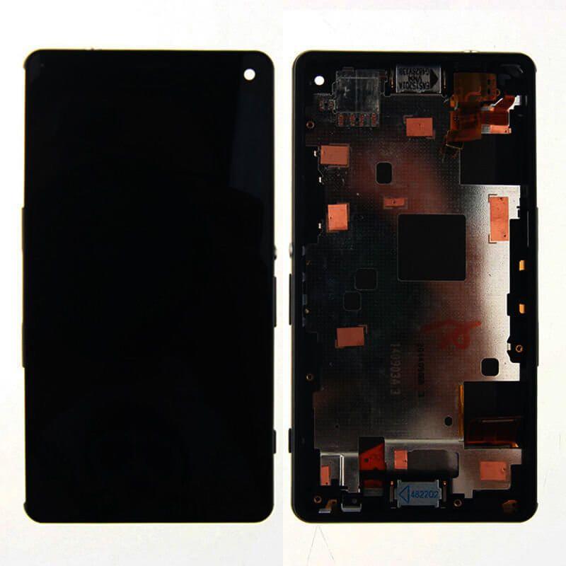 Картинка Дисплей Sony D5803 (Z3 compact) в сборе с тачскрином+рамка черный от магазина NBS Parts