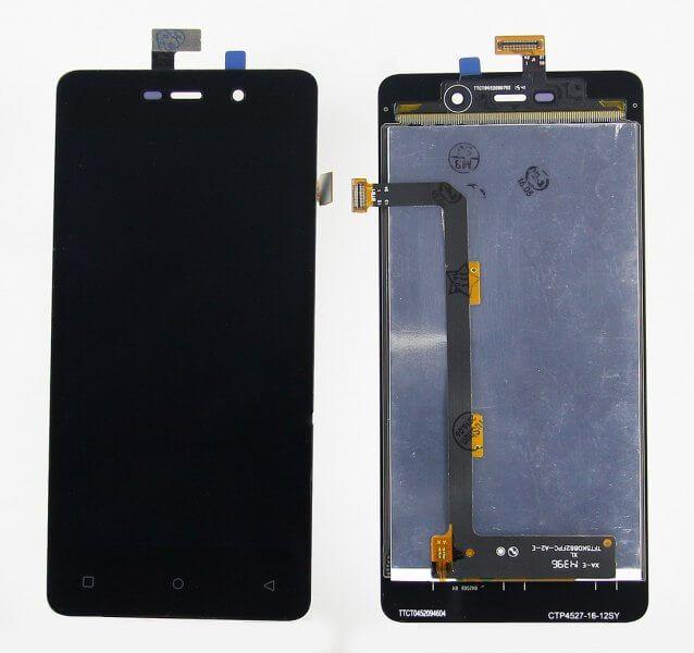 Картинка Дисплей Highscreen Power Four в сборе с тачскрином черный от магазина NBS Parts