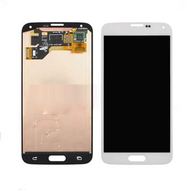 Картинка Дисплей Samsung G900F в сборе белый от магазина NBS Parts