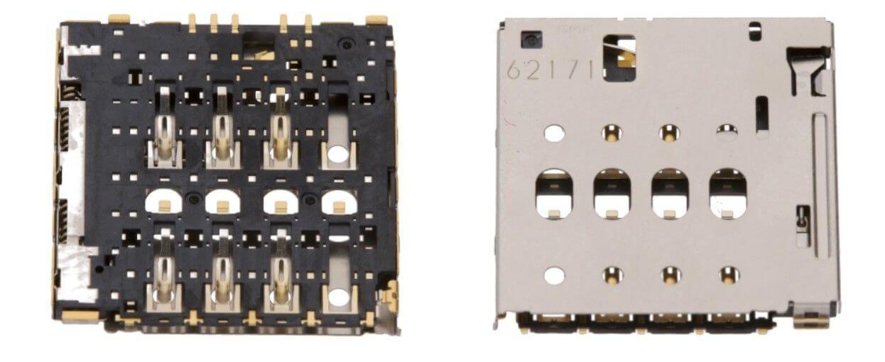 Картинка Коннектор SIM Alcatel OT-8050D от магазина NBS Parts