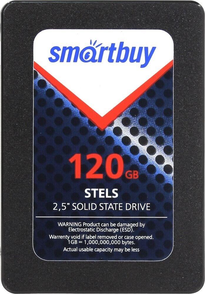 "Картинка Жесткий диск SSD 2.5"" SATA-3 120Gb Smartbuy Stels (SB120GB-STLS-25SAT3) SMI2244 (R520/W260MB/s) от магазина NBS Parts"