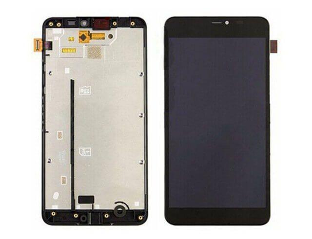 Картинка Дисплей Nokia 640 в сборе с тачскрином Черный от магазина NBS Parts