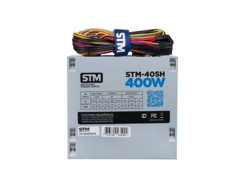 Картинка Блок питания 400W STM, OEM (STM-40SH) (20+4pin, 4-pinCPU, 15-pinSATAx2, 6-pinPCI-Ex2) от магазина NBS Parts