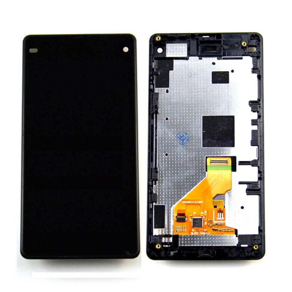 Картинка Дисплей Sony D5503 (Z1 compact) в сборе с тачскрином+рамка черный от магазина NBS Parts
