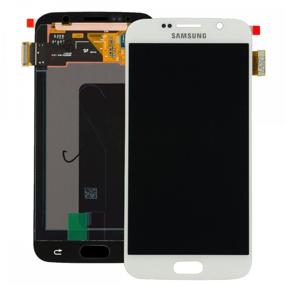 Картинка Дисплей Samsung G920F Galaxy S6 в сборе с тачскрином белый ORIG  от магазина NBS Parts