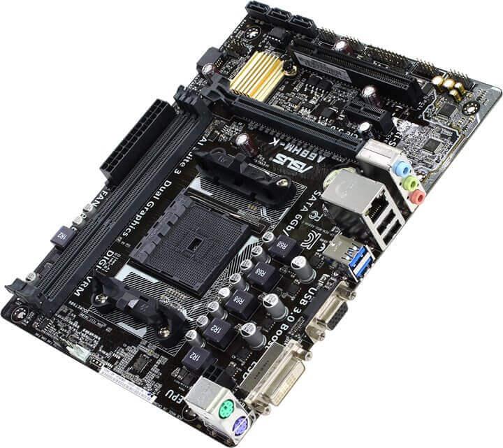 Картинка Материнская плата ASUS A68HM-K, SocketFM2+, AMD A68H, 2DDR3, PCI-Ex16, 4SATA3, 7.1-ch, VGA, mATX от магазина NBS Parts
