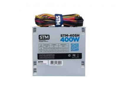 Детальная картинка Блок питания 400W STM, OEM (STM-40SH) (20+4pin, 4-pinCPU, 15-pinSATAx2, 6-pinPCI-Ex2) от магазина NBS Parts