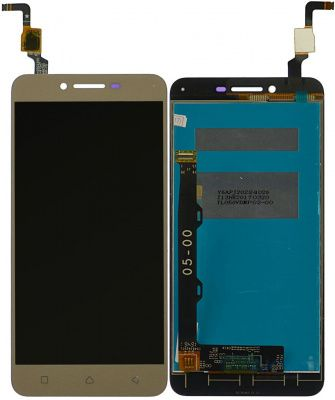 Детальная картинка Дисплей Lenovo K5/A6020A40 в сборе с тачскрином золото от магазина NBS Parts